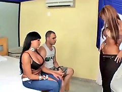 Latina threesomes, Tgirl, Latina threesome, Latinas threesome, Tgirls