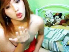 Shemale, Asian, Webcam, Amateur, Asian shemale