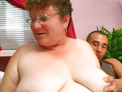 Grandma, Fat mature, Mature facial, Grandma sex, Threesome fat, Stuffing