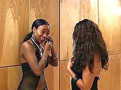 Me and my, Ebony girlfriend, My girlfriend, Ebony stockings, Black girlfriend, Threesome piercing