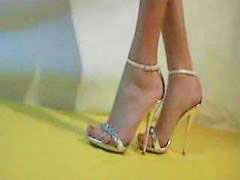 High heels white, Sandal, Crushes, Crushed, White high-heels, White heel