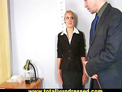 Speculum, Russian secretary, Toys test, Toy test, Russian dildo, Secretary blonde