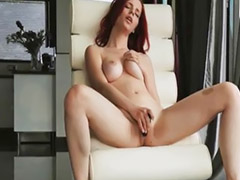 On dildo, New toy, Girl enjoying, Redhead dildo, Redhead dildos, New dildos