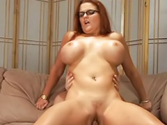 Glasses, Titfuck, Heels facial, Milf masturbating, Glasses facial, Glasses blowjob