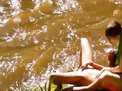 Lesbian river, Two sexy lesbian, Two sexy, Rivers, Lesbians outdoors, Outdoor lesbians