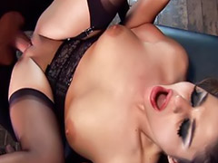 Anal, Threesome, Lingerie, Anal stockings