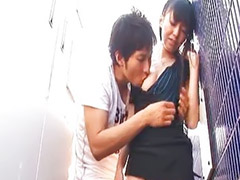 Japanese, Public, Kissing, Kiss, Public sex, Public masturbation
