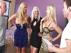 Foursome, Mature group sex, Group mature, Group sex big tits, Blond mature, Tits big group