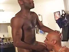 Ebony anal, Bareback, Black gay, Gay black, Gay bareback, Cum eating