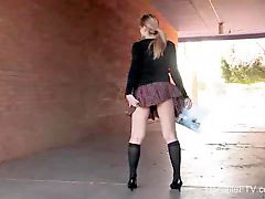 Skirt, Skirt girl, With cloth, School skirt, In cloth, Skirt in