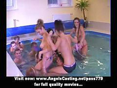 Fight, Pool orgy, The fighting, Pool amateur, Pool water, Orgy pool