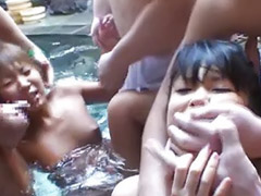 Pool, Asian gangbang, Hot gangbang 3, Pools, Hot chick, Asian gangbanged