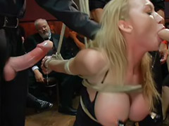 Madison, Time bondage, Strap on gangbang, Gangbang dominated, Hard deepthroat, Hard gangbang