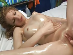 Teen, Massage, Wet