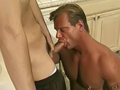 Kitchen, Pierced gay, Kitchen anal, Boy sexy boy, Boy sexi, What a blowjob