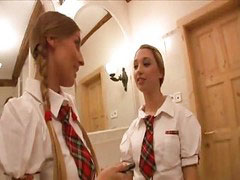 Morgan moon, Moone, Schoolgirls threesome, Schoolgirl hot, Schoolgirl threesome, Mooning
