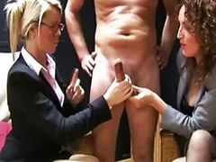 Pulled, Lucky guy, Threesome lucky, Threesome office, Lucky threesome, Lucky guys