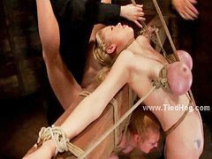 Sex slave, Large, Breast bondage