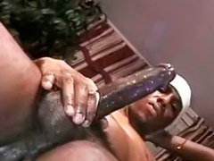 Ebony cream, Feeding, Feed, White cock for, Ebony white cock, Gay feed