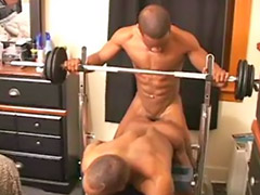 Workout, Hard gay cum, Ebony workout, Ebony muscular, Ebony hard, Gay hard blowjob