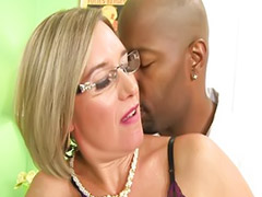 Interracial, Mature, Mature interracial, Mature masturbation, Interracial mature, Glasses