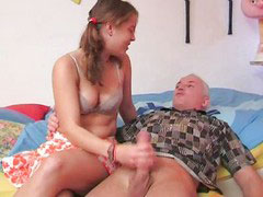 German, Grandpa, German handjob