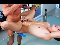 Office, Black, Big black cock, Pov anal, Anal riding