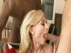 Nina, Mature anal, Mature, Interracial mature
