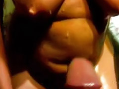 Huge cock, Huge tits, Cum on tits, Cum on tit, Huge shot, Jerk off