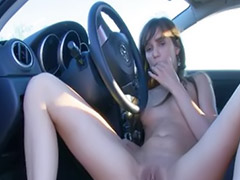 Solo car, Fingering girlfriend, Fingering car, Girl car, Beauty finger, Car finger