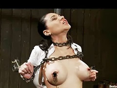 Busty toy, Chained, Busty, bondage, Chains, Big tits bondage, Big tit bondage