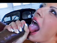 Interracial, Car, Interracial anal, Anal interracial, Sandra, Anal stockings