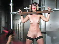 Domination, Fetish bondage, Standing, Clothespin, Domination couple, Dominant couple