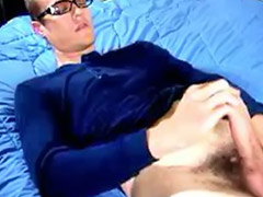 In blue, Brunette blue, Solo gay hairy, Hairy glamour, Hairy gay solo, Hairy brunette solo