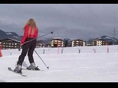 Ski, Skiing, Her first times, First time on, ,ski