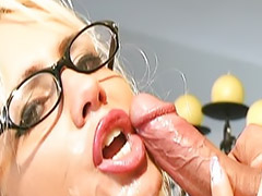 Glasses facial, Amateur glasses, He she cum, He she, Facial glasses, Blonde glasses facial