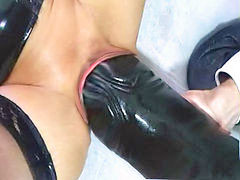 Latex, Dildo, Monster, Forced