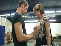 Mature, Mature handjob, Young