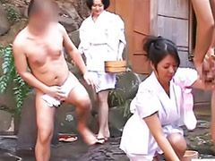 Bath, Japanese handjob, Japanese bathing, Handjob japanese, Asian bath, Handjob outdoor