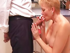 Kitchen, In kitchen, Mature in kitchen, Kitchen blowjob, Chen, Mature kitchen