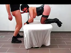 Tied, Tied up, German anal, German latex, Latex bondage, Tied and toyed