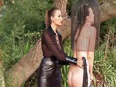 Latex, Mistress, Punish, Punished, Punishment, Lesbian bondage