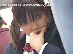 Japanese, Schoolgirl, Groping, Bus, Groped