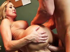 Boss, Busty milf, Busty stockings, Milf boss, Busty boss, Office milf