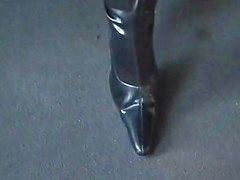 German latex, German boots, Public latex, German public, Public boots, German anal amateur