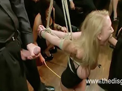 Boxing, Gangbang bondage, Tied gangbang, Tied bondage, On her head, Gets tied