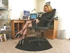 Pantyhose, Secretary, Black, Horny, Blacked