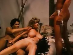 Vintage, Men, Hairy, Hairy threesome, Hairy vintage, Blowjob vintage