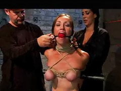 Bar, Arm, Gagging bondage, Gagged bound, Bondage gagged, Bound gagged