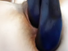 Hairy double, Amateur double penetration, Aubergine, Hairy solo toy, Double toy solo, Double hairy